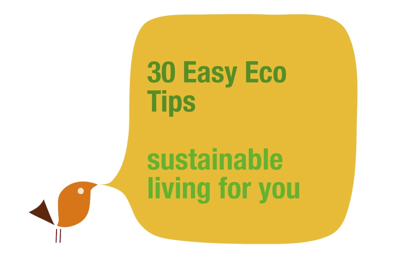 30 easy ecological tips for every day