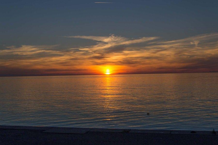 sunset solar power