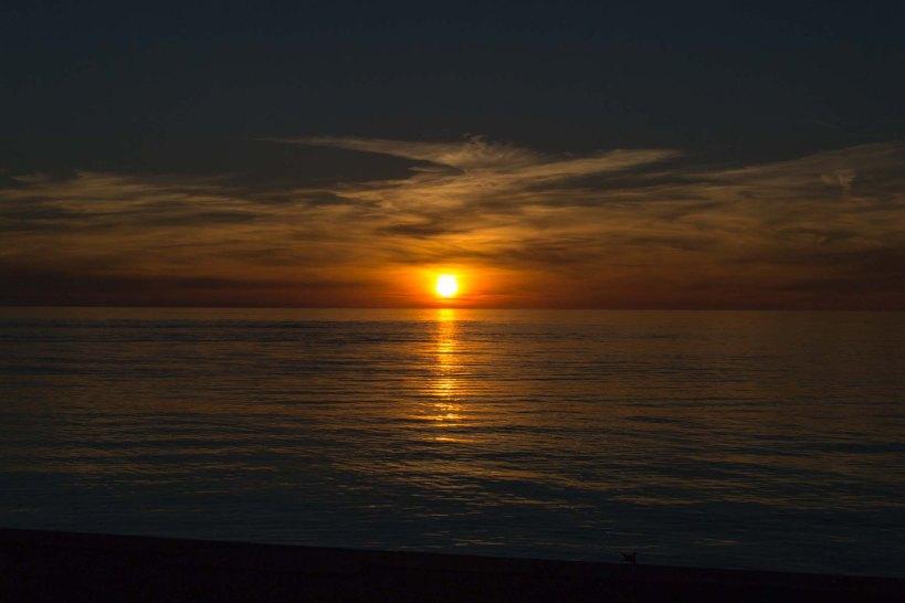 sunset on baltic seas