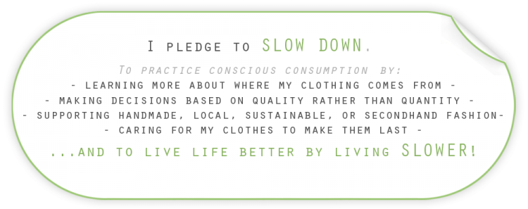 Slow Fashion Pledge